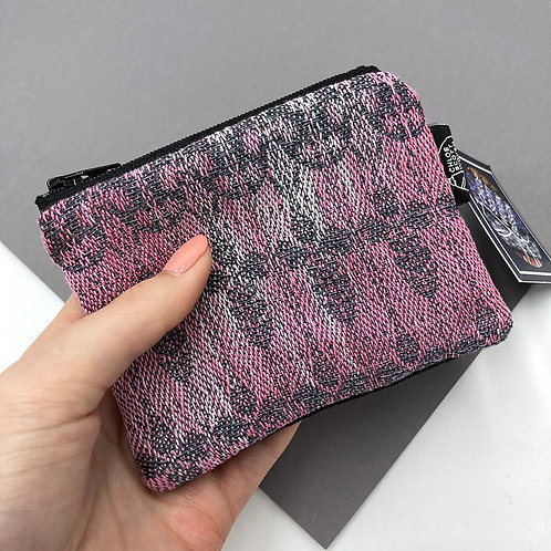 Handwoven Coin Purse - Whimsical Pink