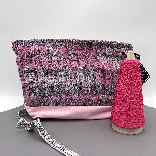 Handwoven Travel Bag - Whimsical Pink