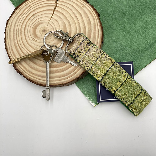 Handwoven Key Ring - Sour Lime
