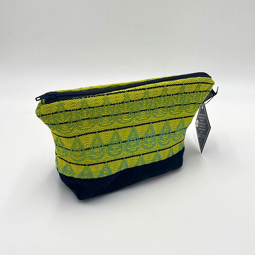 Handwoven Vivid Green Makeup Bag