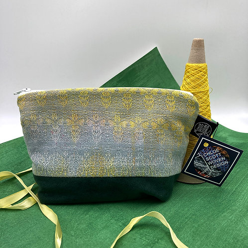 Handwoven Make-up Bag - Silver Wings