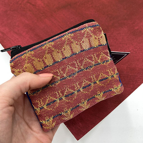 Handwoven Coin Purse - Exotic Rose
