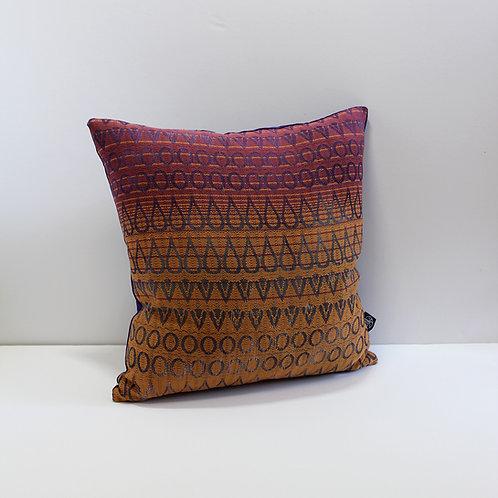 Handwoven Cushion - Electric Peach