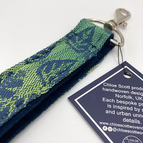 Handwoven Forest Green Keyring