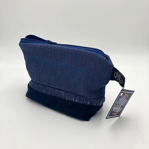 Handwoven Navy Electric Makeup Bag