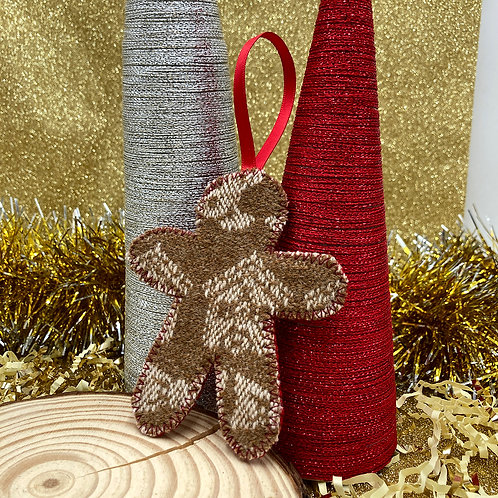 Handwoven Gingerbread Person Decoration - Plain and Simple