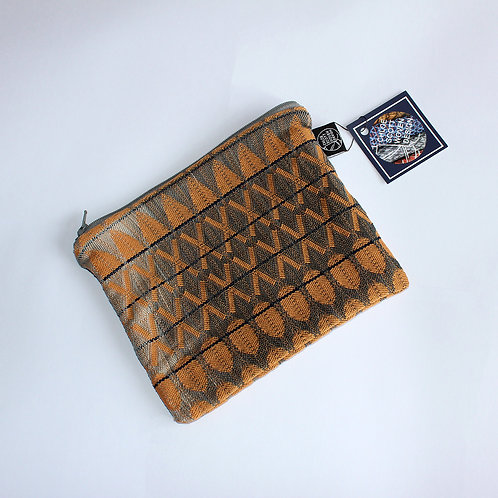 Handwoven Orange Medium Pouch (01)