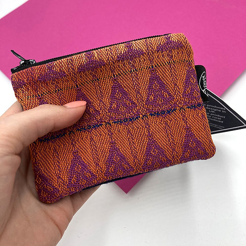 Handwoven Coin Purse - Tickled Pink No2