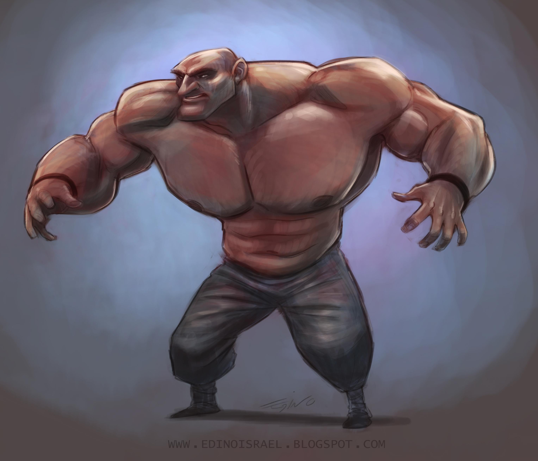 Musculoso enojado b