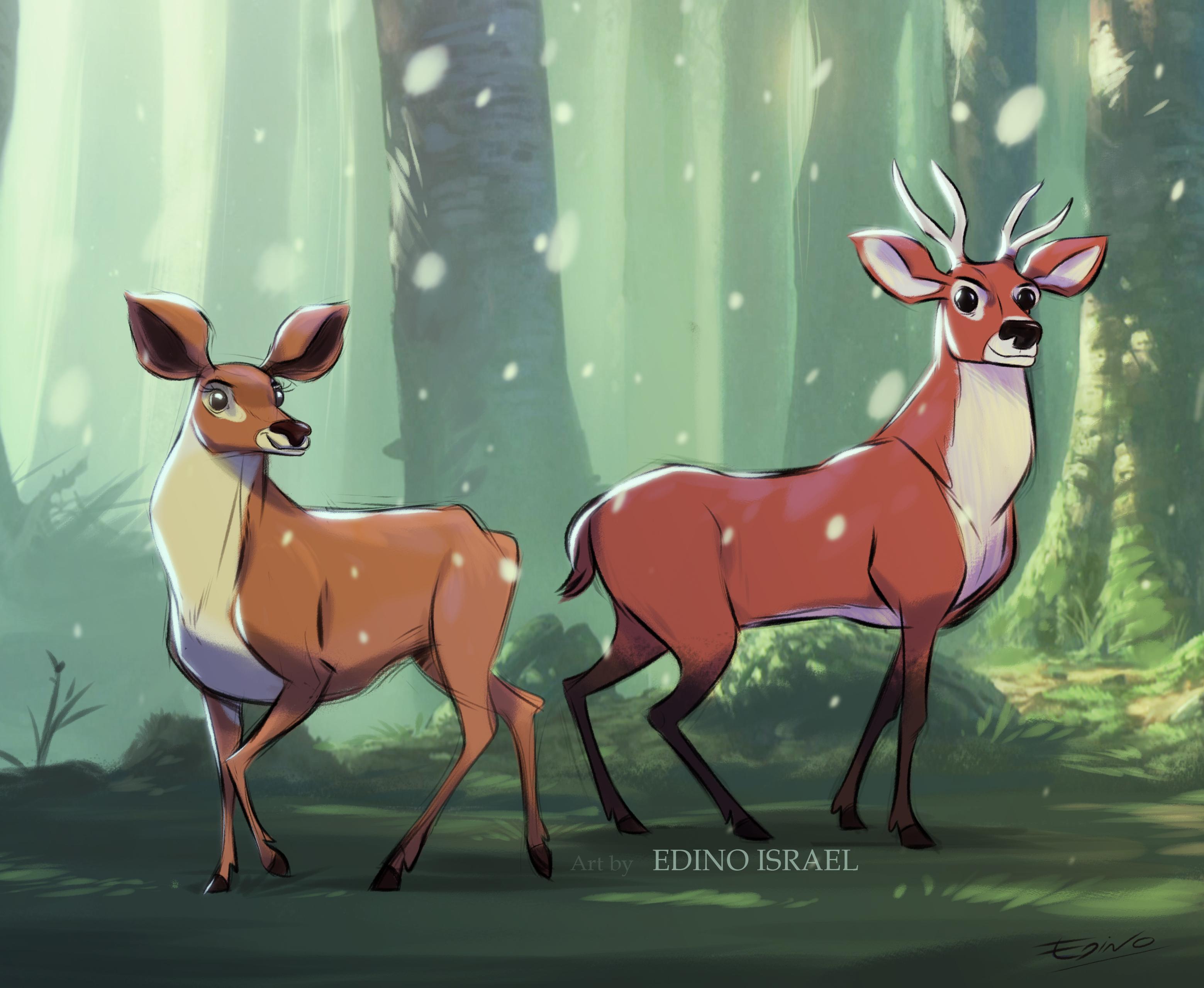 VENADOS en el bosque