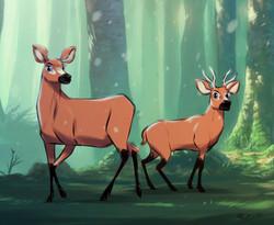 VENADOS en el bosque 2
