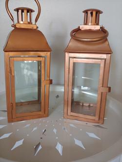 2 copper lanterns