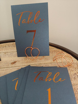 15 Navy and rose gold table Numbers