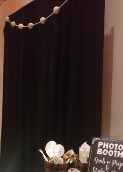 black pipe and drape