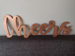 2 Cheers Signs any Color, one large and