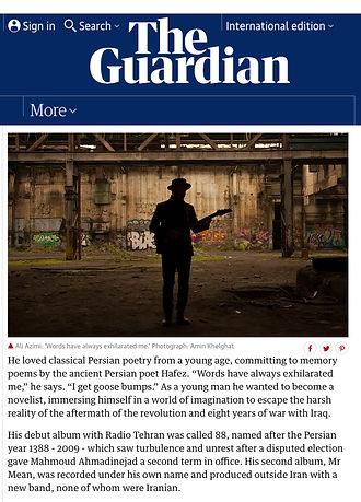 "Amin Khelghat, ""The Guardian"""