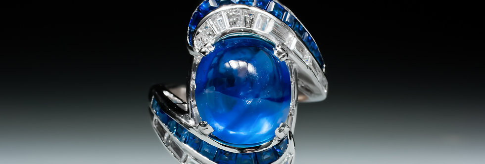 A late 1930's sapphire and diamond ring