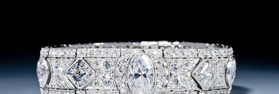 A magnificent Art Deco diamond bracelet