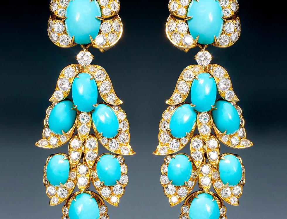 An extravagant pair of earrings by Van Cleef & Arpels