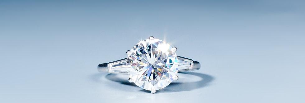 A diamond solitair ring by Cartier, Paris