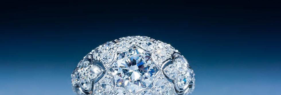 A very fine Art Deco diamond ring