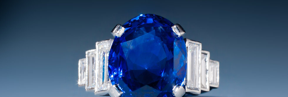 A magnificent sapphire and diamond ring