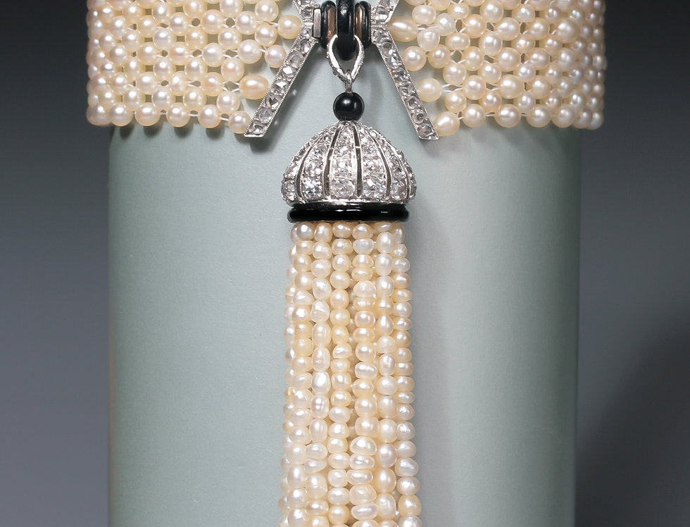 An early Art Deco tassel bracelet by Mauboussin, Paris