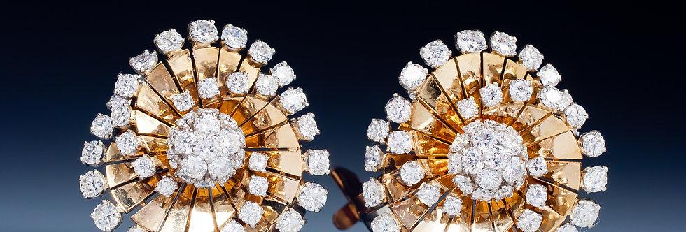 A gorgeous pair of diamond tourbillon earrings by Van Cleef & Arpels