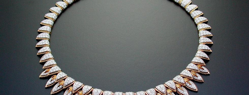 An exquisite diamond fringe necklace by Van Cleef & Arpels