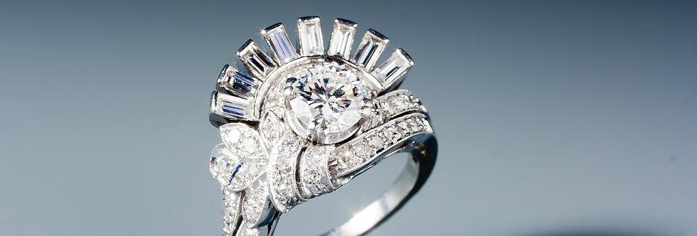 An unusual diamond ring