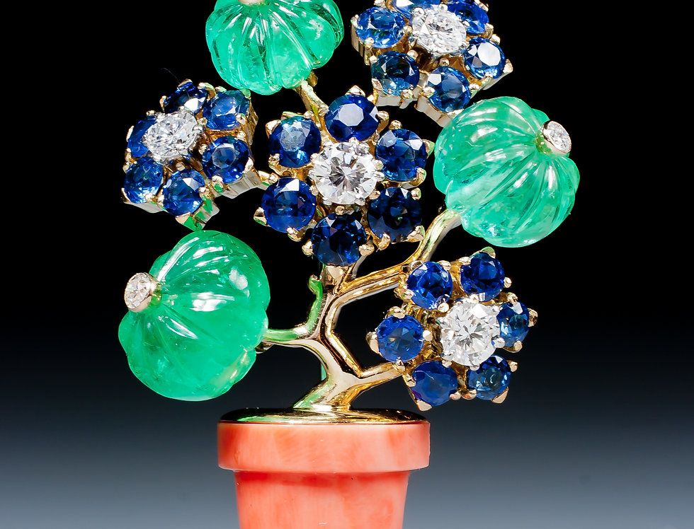 A very fine 'giardinetto' brooch by Cartier, Paris