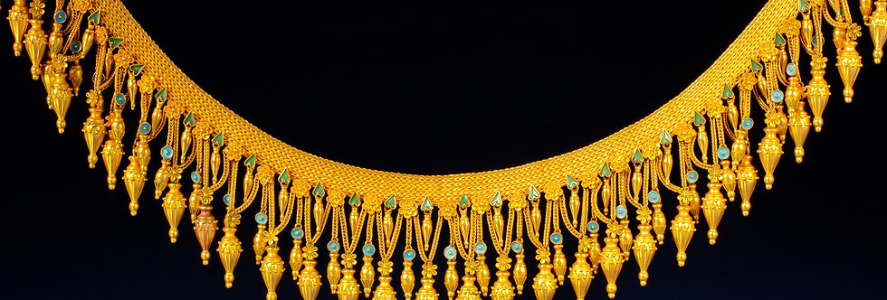 An important revivalist gold and enamel 'Melos' necklace by Civilotti