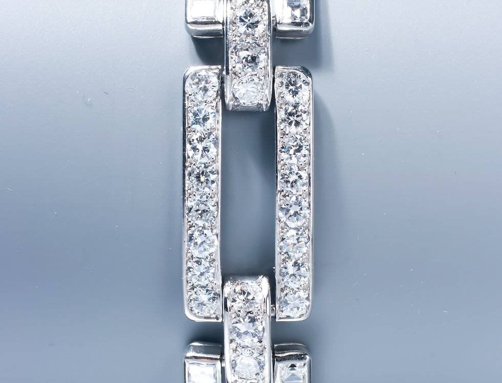 An Art Deco diamond bracelet by Henri Lavabre for Cartier