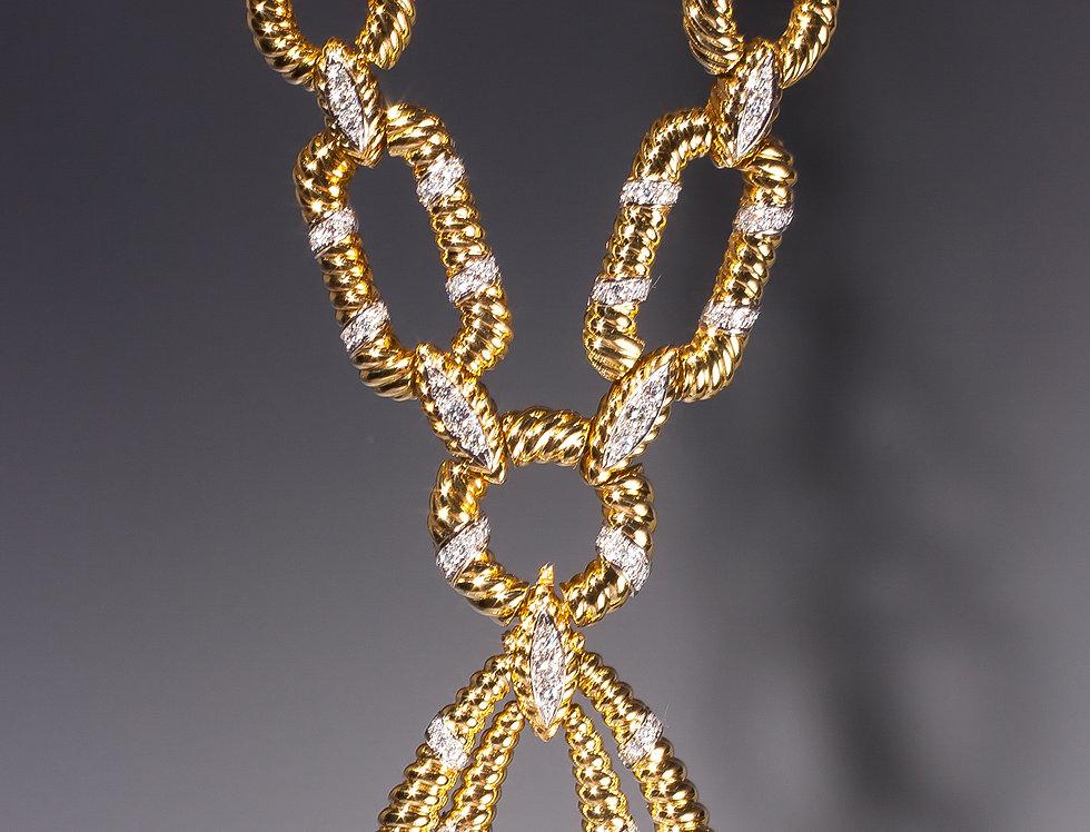 An important gold and diamond sautoir