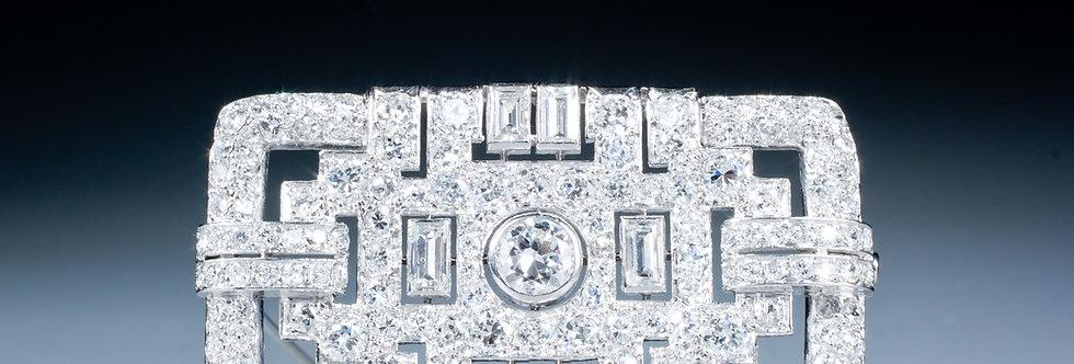 A very fine Art Deco diamond brooch