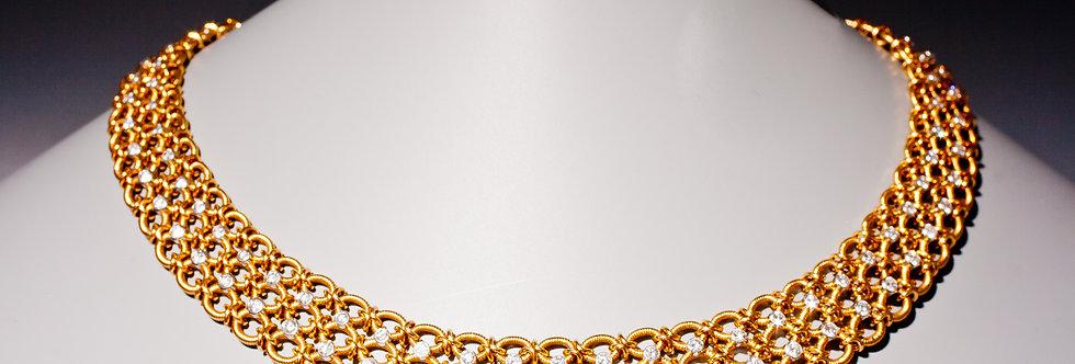 A stylish diamond necklace by Cartier, Paris