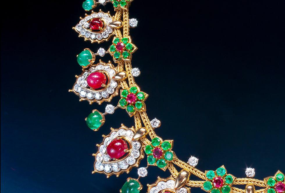 A magnificent gemset necklace by Van Cleef & Arpels