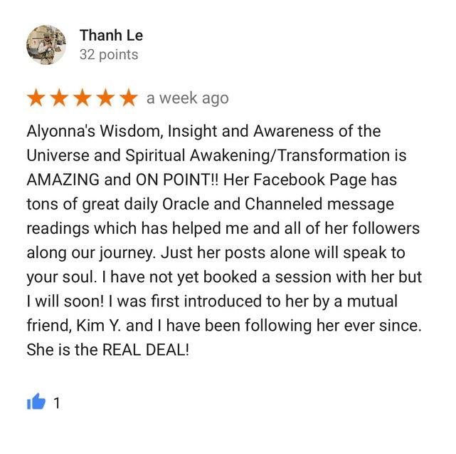 review alyonna divine healing