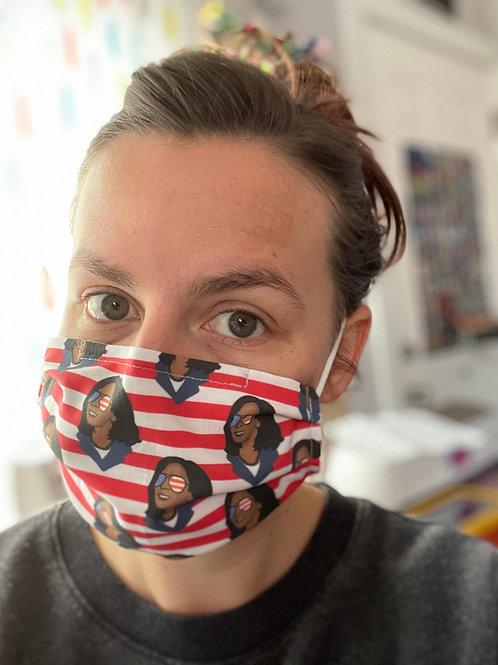 KAMALA Kamala Kamala! Washable Reusable Cotton Mask