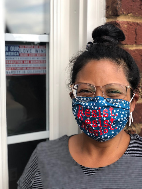 Resist Resist Resist! Washable/ Reusable Face Mask