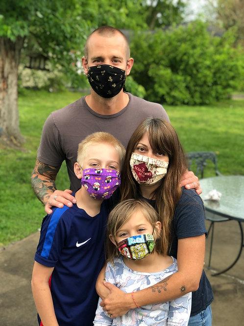 Harry Potter Masks! Multiple Prints! Washable Cotton Mask w/ free shi