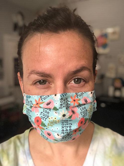 Back off/6ft (explicit) Washable Reusable Cotton Mask
