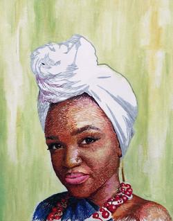 Self Portrait Embroidered