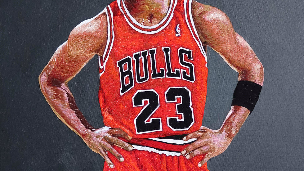 Michael Jordan- Embroidered (Print)