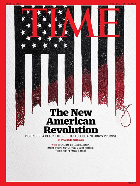 Nneka Jones designs TIME Magazine's Cover- Hand Embroidered Artwork