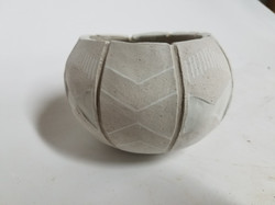 """Tribal Pinch Pot Zoomed"""