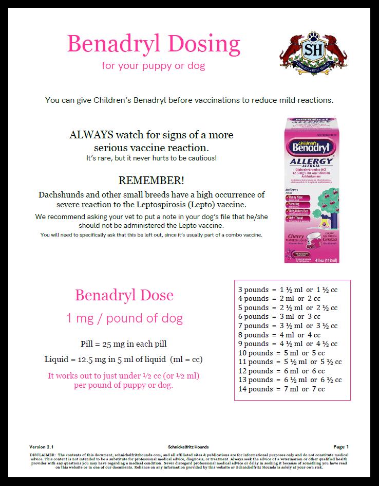 Benadryl Dosing Guide
