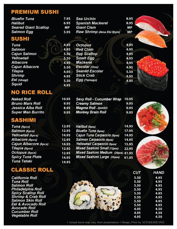 Sushi Bomb Menu 4
