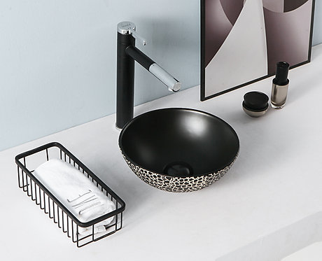 סדרת ברצלונה-כיור שחור בעיצוב פסיפס