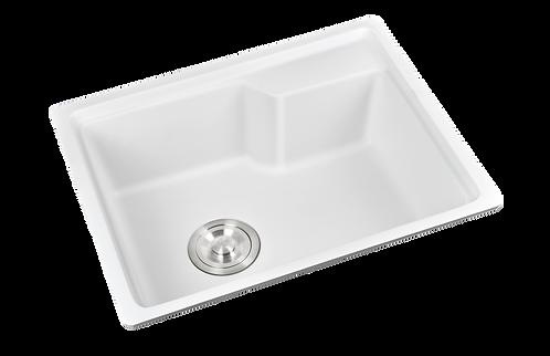 כיור גרניט למטבח בצבע לבן-דגם אסיה